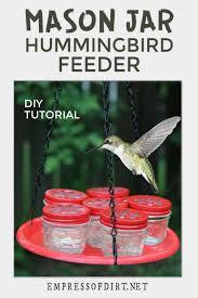 hummingbird feeder with mason jars