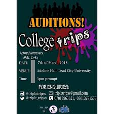 "Ibadan247 on Twitter: ""AUDITION! AUDITION!! AUDITION!!! 'College ..."