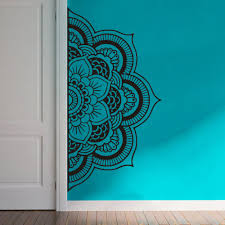 Yoyoyu Decal Half Mandala Wall Decal Sticker Flower Vinyl Bohemian Headboard Home Decor Diy Bedroom Carving Wall Poster Y022 Wall Poster Flower Vinylsstickers Flowers Aliexpress
