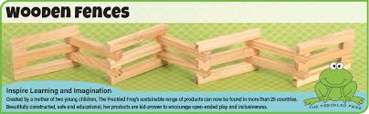 Amazon Com The Freckled Frog Wooden Fences Set Of 4 Ages 12m More Than 6 Ft 2 Inches High Of Toy Corral Fences For Imaginative Play With Toy Horses Farms Action
