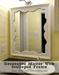 diy decorative mirror with scalloped