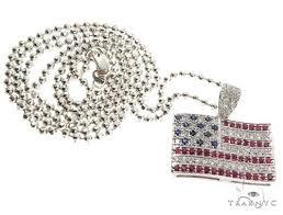 american flag moon cut chain set mens