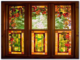 fake stained glass kits for windows