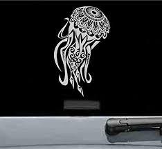 Amazon Com Maori Jellyfish Vinyl Decal Sticker Silver Automotive