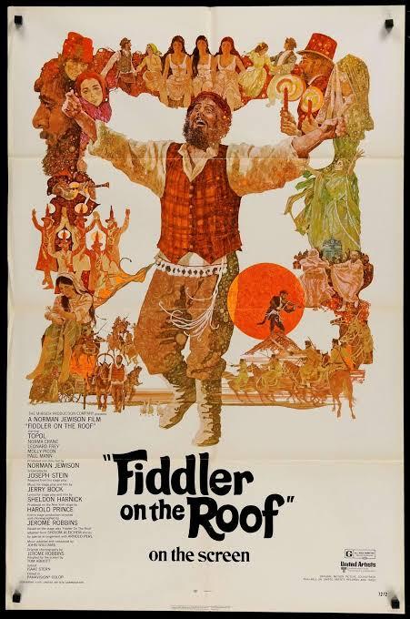"Resultado de imagen para fiddler on the roof 1971"""