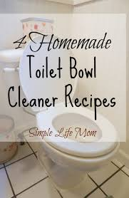 4 homemade toilet bowl cleaner recipes