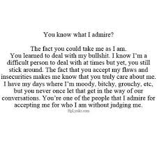 this is why i love you d you accept me for who i am despite