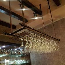 wine glass hanging rack pub
