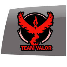 Pokemon Go Inspired Team Valor Games 5 Year Outdoor Vinyl Sticker Decal Slomo Swag Apparel Stickers And More