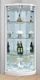 divider bar cabinet corner display