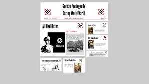 German Propaganda During World War II by Adrian Rendon