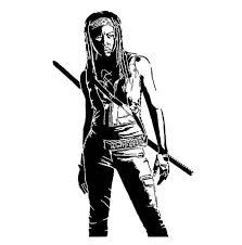 The Walking Dead Michonne Scroll Saw Pattern By Carteriartanddeco The Walking Dead Scroll Saw Patterns Silhouette Art