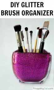 diy glitter brush holder