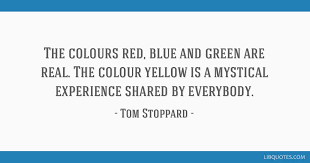 the colours red blue and green are real the colour yellow is a