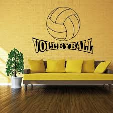 4056 Volleyball Vinyl Wall Decal Stickers For Kids Sport Boy Rooms Bedroom Art Wall Home Decor Wallpaper Wall Decals Stickers Stickers Fordecal Sticker Aliexpress