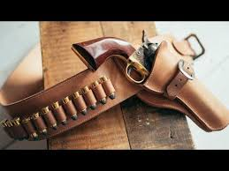 leather cowboy action fast draw holster