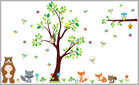 Woodland Nursery Decal Forest Wall Decals Nursery Baby Room Decor Nurserydecals4you