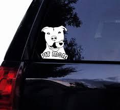 Tshirt Rocket Pit Mom Decal Pit Bull W Ball Sticker Pitbull Dog Car Decal Laptop Decal Car Window Mirror Sticker 7 White Wish