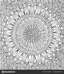 Doodle Mandala Met Cirkel Patroon Achtergrond Grafische