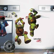 Roommates Teenage Mutant Ninja Turtles Brick Poster Peel And Stick Giant Wall Decal Baby Stickers