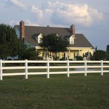 Weatherables 5 In X 5 In X 6 5 Ft 3 Rail Vinyl Fence Post Ez Pack Lwhf Thd3rail1 5 5x78 The Home Depot