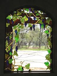g vines on a trellis stained glass