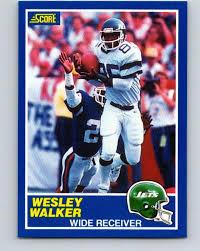 Amazon.com: 1989 Score #35 Wesley Walker Mint Football NFL NY Jets ...