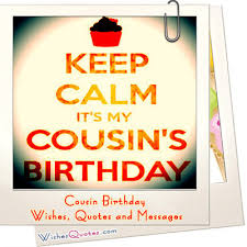 quotes about cousin birthday quotes