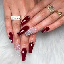 45 newest burgundy nails designs you