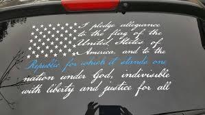American Flag Pledge Of Allegiance Patriotic Vinyl Decal Car Truck Window Us019 Car Truck Decals Stickers Moonnepal Com