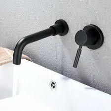 double handle wall mount bathroom sink