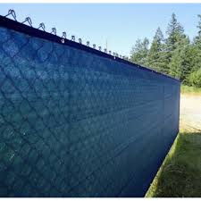 Aleko 5 X 50 Blue Fence Privacy Screen Outdoor Backyard Fencing Privacy Windscreen Best Buy Canada