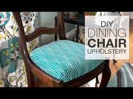 how to reupholster dining chairs diy