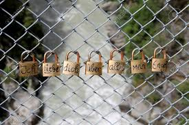 Love Locks On A Chain Link Fence Stock Photo Picture And Royalty Free Image Image 96362016