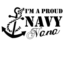 Proud Navy Nana Vinyl Decal Etsy