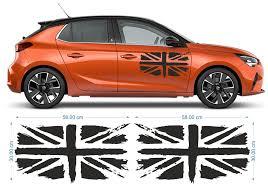2x Uk Flag Union Jack Car Side Sticker Decals Graphics In 2020 Vinyl Decals Uk Flag Car