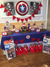 Capitan America Con Imagenes Decoracion Fiesta Cumpleanos
