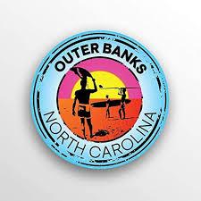 Amazon Com 2 Pack Outer Banks North Carolina Decal Sticker 3 Inch Round Premium Quality Vinyl Sticker Uv Protective Laminate Pd1506 Automotive