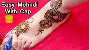 henna foot design easy