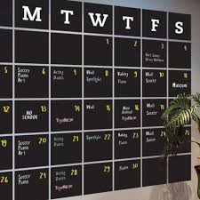Chalkboard Calendar Wall Decal Extra Large