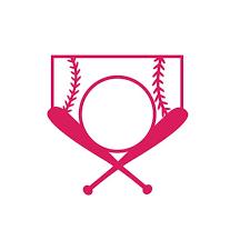 Love Baseball Cross Bats Decal Sticker 5 5 Inches By 5 5 Inches Hot Pink Vinyl Walmart Com Walmart Com