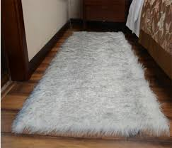 large faux sheepskin gy flokati rug