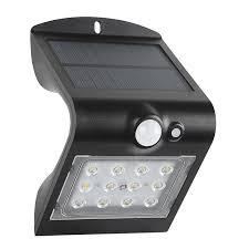 Solar Magic 220lm Black Wall Light Bunnings Warehouse