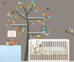 Floating Shelves Tree Wall Decal Tree Bookshelf For Nursery Etsy Nursery Wall Decals Owl Themed Nursery Kids Wall Decals