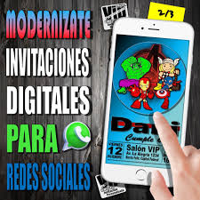 Invitacion Digital 213 Cumpleanos Los Avengers Baby 99