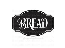 Bread Box Decal Computer Cut Vinyl Sticker Kitchen Pantry Etsy