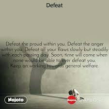 new defeat motivational quotes status photo video nojoto