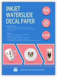 Amazon Com Tonha Inkjet Waterslide Decal Paper 20 Sheets 8 5 X 11 Clear Paper For Diy Decals Gift Crafts Ceramics Candles 8 5 Office Products
