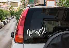 Yoga Namaste Car Decal Car Window Decal Free Shipping Car Etsy
