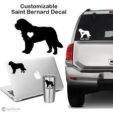 Personalized Saint Bernard Decal Top Pet Gifts